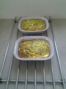 courgette feta bake