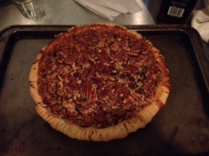 Bourbon Chocolate Chip Pecan Pie - Gluten Free!!