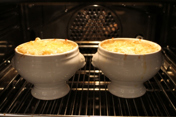 In the oven - French onion soup recipe