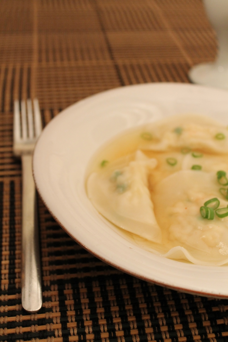 Crab and Shrimp Ravioli in a Seafood Broth