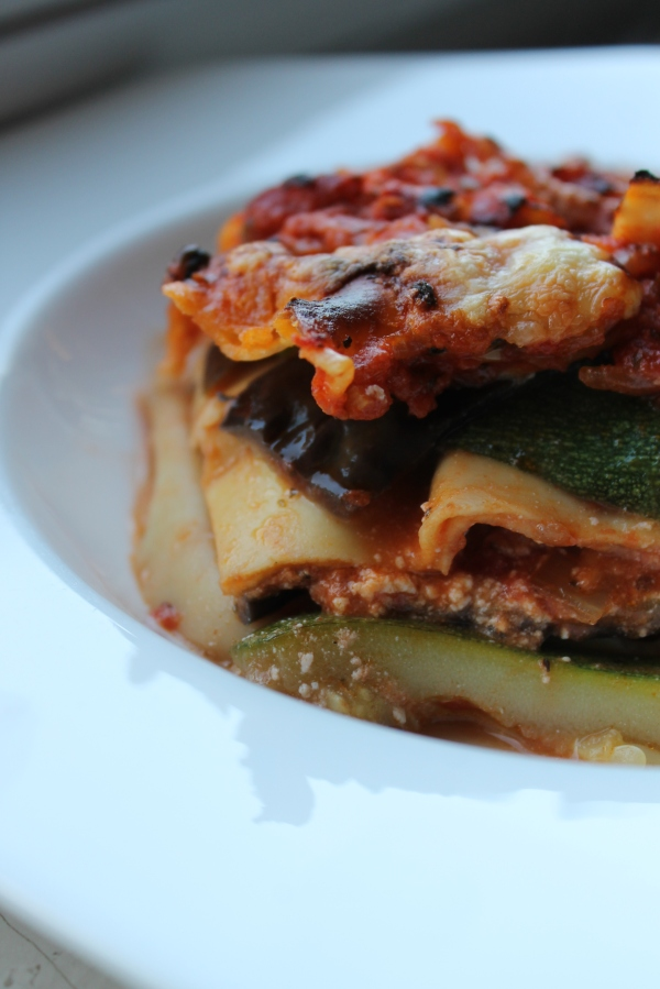 Veg lasagna - closeup finished