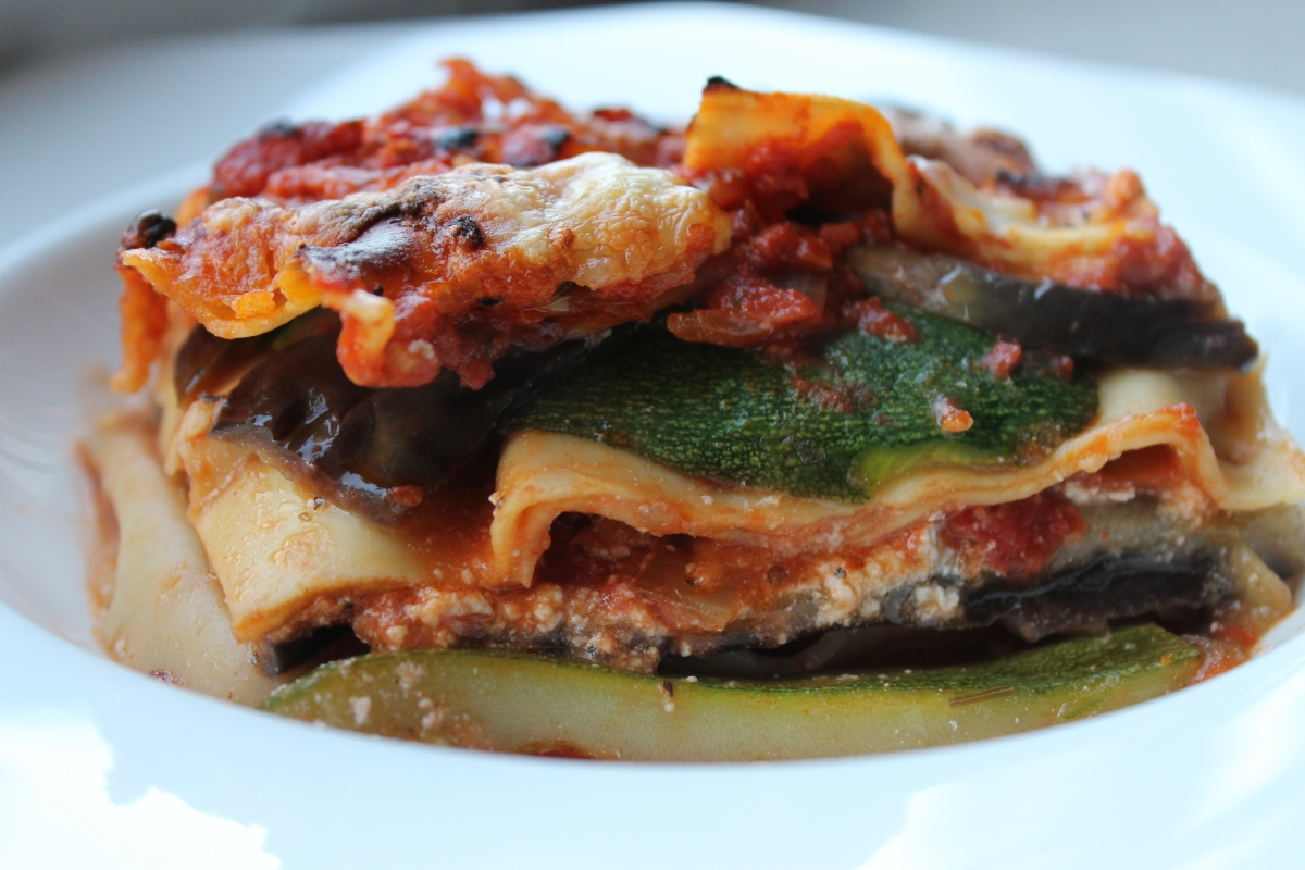 Recipe for homemade vegetable lasagna