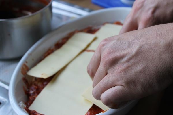 Veg lasagna - pasta layer