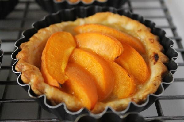 Culinary Correspondence - Apricot Tartlets - Before glaze