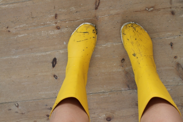 Rubber boots to go clamming!