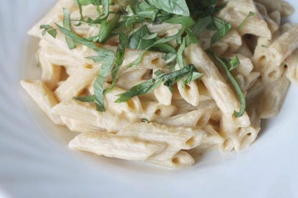 Vegan creamy cashew cream butternut squash pasta 2-2