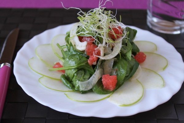 Light and fresh shaved fennel salad