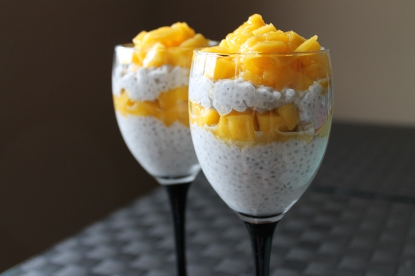 Mango and coconut milk chia seed pudding recipe - 3