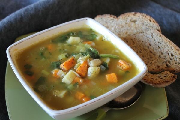 Vegan root vegetable soup