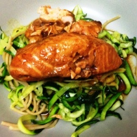 Teriyaki Salmon with Courgette Noodles - by Joe Wicks!