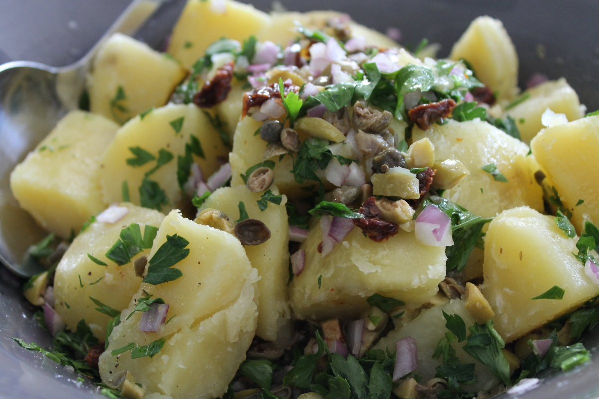 Warm Greek Potato Salad